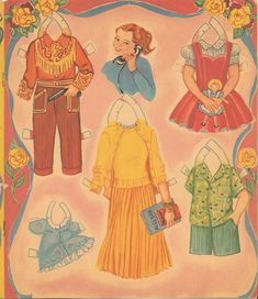 VINTAGE UNCUT 1943 HOUR CHARM PAPER DOLL HD~LASER ORG SZ REPRODUCTION~LO PRICE