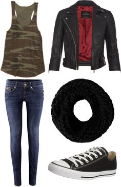 """Casual and Camo"" by emilylovesstyles ❤ liked on Polyvore"