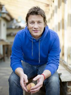 Jamie Oliver. Entrepreneurial sweetheart with a social conscience who cooks. ~Danielle