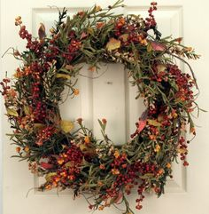 Autumn Wreaths For Front Door, Christmas Door Wreaths, Diy Fall Wreath, Thanksgiving Wreaths, Holiday Wreaths, Christmas Decorations, Winter Wreaths, Spring Wreaths, Summer Wreath