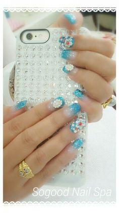 #Acylic #gelish#3D nail art