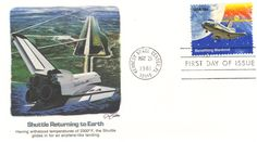 Space First Day Cover: Shuttle Landing First Day Covers, One Day, Landing, Stamp, Stamps