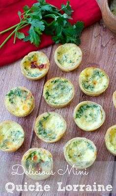 Mini Quiche Lorraine Recipe - The taste will transport you to Paris! Delicate little bites of Gruyere cheese, egg and smoky bacon all wrapped up in a buttery crust. They are so easy to make and irresistible !