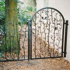 Branches and Birds Garden Gate custom made by Metals & Natur.- Branches and Birds Garden Gate custom made by Metals & Nature Branches and Birds Garden Gate custom made by Metals & Nature - Wrought Iron Garden Gates, Metal Gates, Front Gates, Entrance Gates, Custom Gates, Garden Doors, Fence Gate, Fencing, Iron Doors