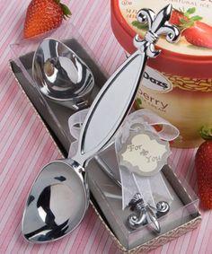 Fleur de lis design ice cream scooper