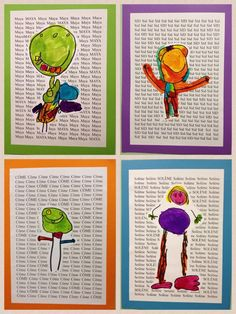 kindergarten self portraits art project LOVE the name as background!