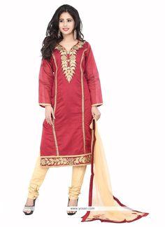 Irresistible Chanderi Designer Suit Model: YOS6944