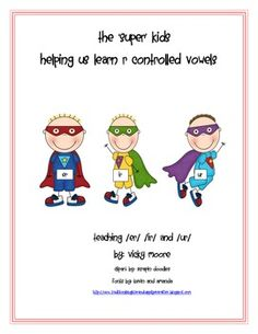 This mini unit is intended to help you teach the r controlled vowels.  It has 15 fun filled pages: *3 poems/raps you can teach your kids for each...