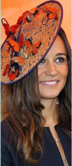 Pippa Middleton looks pretty in gold Project D 'party' dress and Madeleine Millinery fascinator. April 5, 2012. #passion4hats