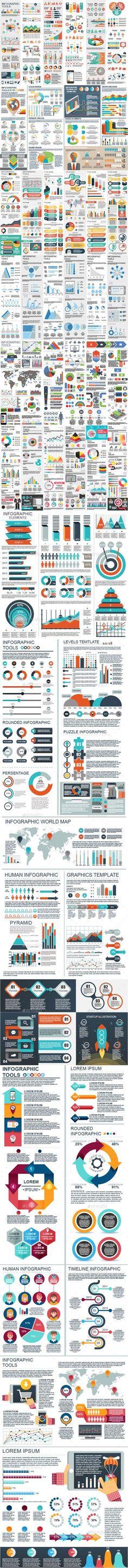 #Bundle Infographic Elements - #Infographics Download here: https://graphicriver.net/item/bundle-infographic-elements/20302511?ref=alena994