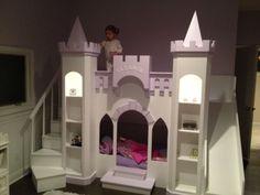 NEW CUSTOM PRINCESS ELEANOR'S CASTLE LOFT/BUNK/PLAYHOUSE BED    #CAROLINADREAMSCUSTOMDESIGNS
