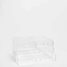 BOX WITH TRANSPARENT DRAWERS
