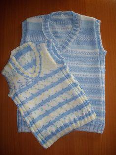 Chalecos para bebés tejidos a dos agujas - Imagui