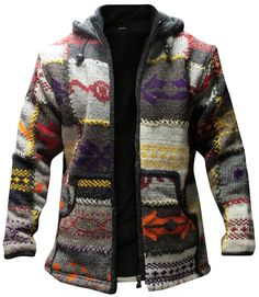 Loose Sweater, Men Sweater, Boho Stil, Vintage Sweaters, Vintage Hats, Jackets Online, Types Of Sleeves, Hippie Boho, Hooded Jacket
