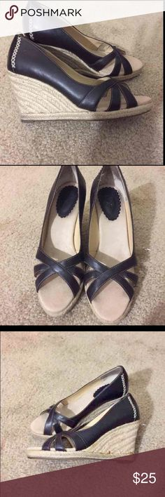 Ann Taylor Brown leather wedges Ann Taylor LOFT Brown Wedge shoes GREAT CONDITION look at photos you will love them. Shoes Wedges