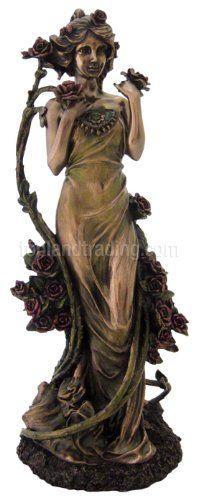 Art Nouveau Art Deco Sculpture - Alphonse Mucha Collection - Rose - Bronze