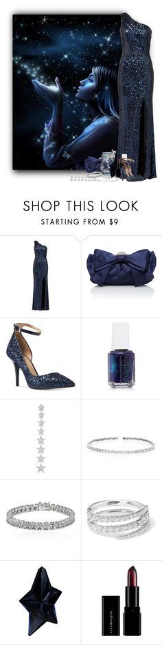 """Wish Upon a Star"" by hubunch ❤ liked on Polyvore featuring Badgley Mischka, Judith Leiber, Michael Kors, Essie, Elise Dray, Suzanne Kalan, Apples & Figs, Anita Ko, Thierry Mugler and navybluecontestentry"