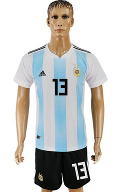 3dfce5e6b Argentina World Cup 2018 Kit #13 Cheap Football Shirts, Soccer Shirts,  Argentina World