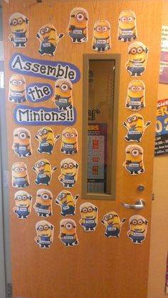Minions classroom door