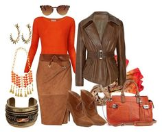 Contest: Browns by shape-shifter on Polyvore featuring polyvore, fashion, style, Witchery, Donna Karan, Ralph Lauren Collection, DANNIJO, Ted Baker, Martine Wester, American Apparel, Rafe, Madison Harding and clothing