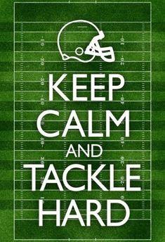 Keep Calm and Tackle Hard Football Poster Poster #AmericanFootball