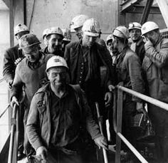 The end of shift at Killoch Colliery, Ayrshire, 1963 Easington Colliery, Coal Miners, Old Magazines, Portraits, Sixteen Tons, The Past, Pitch, People, Mood