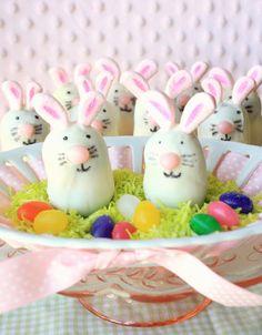 Munchkin Munchies: Thin Mint Bunny Truffles...awesome blog for super cute treats!
