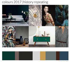 History repeating: op alle beurzen duidelijk te zien: invloed van vormgeving van de jaren 40/50/60, Scandinavisch design. Cirkels. gestileerde bloempatronen en palmprints. Klassieke blauwen, groenen, oker, zwart, grijs en nude. Goud en koper accenten.