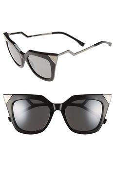 Fendi 52mm Cat Eye Sunglasses (Regular Retail Price: $450.00) available at #Nordstrom