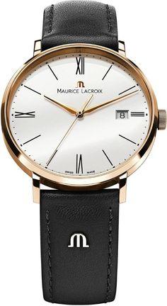 Gold watches : Maurice Lacroix Eliros EL1087-PVP01-110 Mens Wristwatch Flat & light