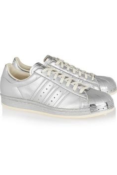 adidas Originals | Superstar 80s metallic leather sneakers | NET-A-PORTER.COM