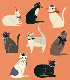 Cat illustration by Clare Owen #CatIllustration