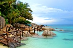 Koh Pangan, Thailand - Must visit!  Besides the gorgeous beaches, hidden waterfalls and Buddhist temples, Koh Pangan offers Western amenities like a Canadian-run Yoga studio and a #vegan cafe serving handmade coconut ice cream.