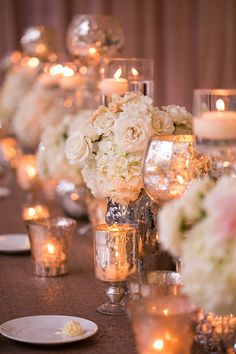 Low Hydrangea Centerpieces | Brides.com