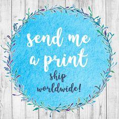 Send me a Print, Digital Print, Custom Portrait Print, Add to Your Personalised Portrait Order