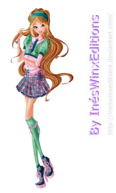 Flora School Fairy Couture - Winx Club 7 by InesWinxEditions.deviantart.com on @DeviantArt