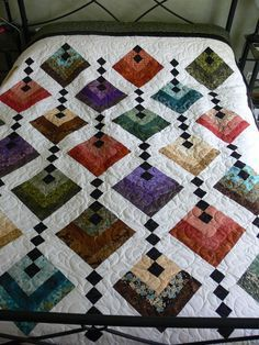 really like this. Neat and orderly | Quilts | Pinterest | Quilts, Hanging Gardens and Log Cabins
