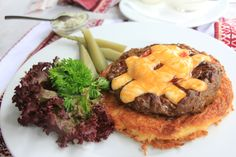 Beefsteak in Odessa, Ukraine Odessa Ukraine, Beef Steak, Hamburger, Meat, Ethnic Recipes, Food, Eastern Europe, Essen, Burgers
