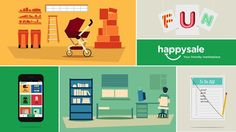 HappySale is a new mobile marketplace that helps you sell the stuff you love, but no longer need. I was in charge of creating this fun promotional video for them, in order to showcase this great new app. Check out http://happysale.com for more info on how you can get it now on your iPhone and Android!  Direction, Design & Animation - Roy Sturdy Music - Lullatone Sound - Redpipe