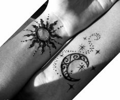 I would really like to get sun and moon tattoos like this.