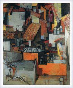 Tetti di Via Leonina, 1962, Renato Guttuso.