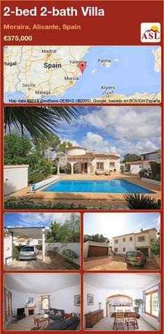 2-bed 2-bath Villa in Moraira, Alicante, Spain ►€375,000 #PropertyForSaleInSpain