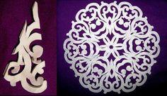 Paper Snowflakes Pattern #craft #snowflake