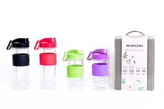 Blender Cups Set By Mironi  2 600ml  2 400ml Capacity Bottles  Ideal For Smoothies Protein Shakes  Drinks  Portable DesignSilicone Slip Resistant Grip Drinking Lid  Pack Of 4 * Read more info by clicking the link on the image. #HydrationandWaterFiltration