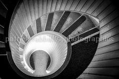 Spiral Staircase Fine Art Photography Black and White Romantic Modern Bedroom Decor Bathroom Decor Office Decor
