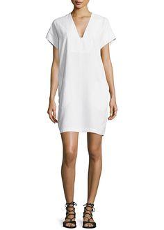 Vince V-Neck Short Sleeve Popover Shift Dress | Brides.com