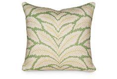 Talavera 19.5x19.5 Pillow, Green