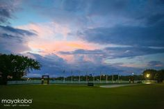 What a view! This photo was taken last year just before the start of @OHLclassic at Mayakoba… We can't wait for another amazing #PGATOUR round @mayakoba this year! #latergram  #sunset #nature #golf #beautiful #colors