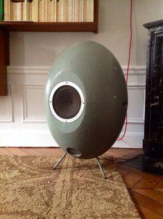 Rare Elipson Egg mono speaker designed for the ORTF - 1