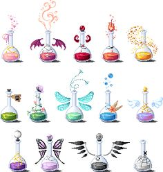 Pixel Potions set 2 by LinaIvelle.deviantart.com on @deviantART